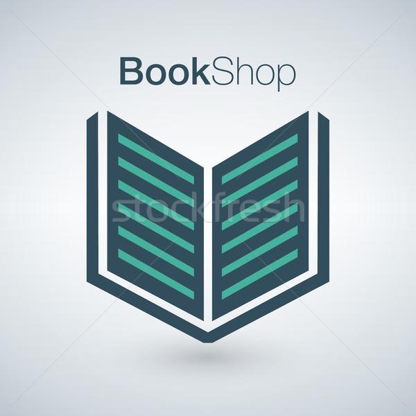 Libro tienda logo aislado moderna pueden Foto stock © kyryloff