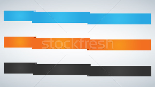 Flat vector ribbons banners flat isolated on white background. Stock photo © kyryloff