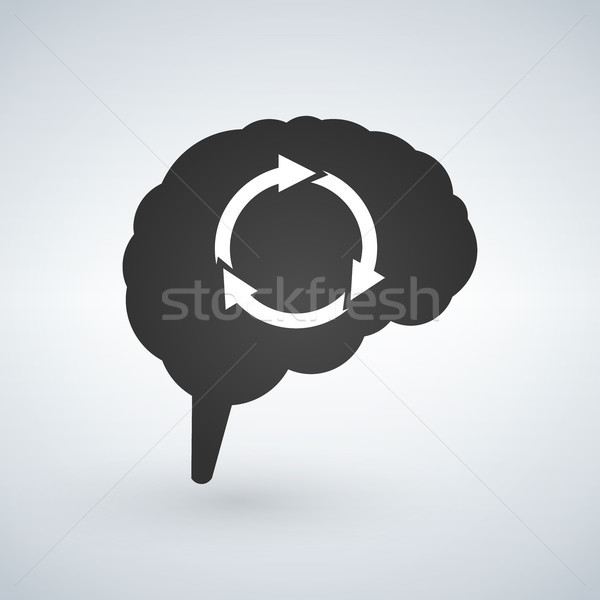 Brain Storming Session Abstract with arrows. Vector Illustration Isolated on white background. Stock photo © kyryloff