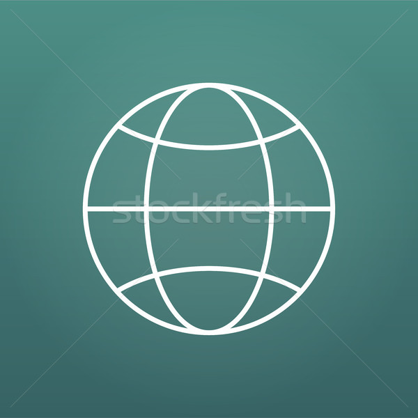 The globe icon with Editable stroke. Globe symbol. Flat Vector illustration isolated on modern backg Stock photo © kyryloff