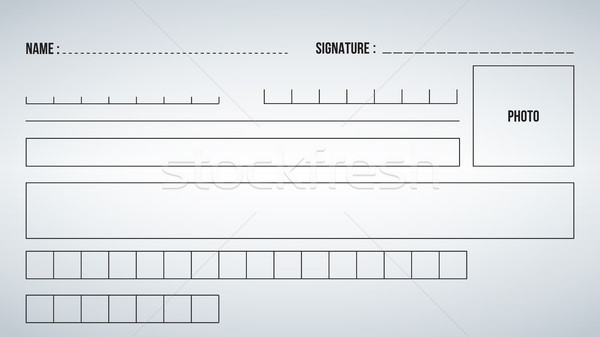 Elements or template Form for filling out. Vector illustration isolated on modern background. Stock photo © kyryloff