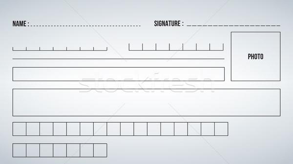 Сток-фото: Элементы · шаблон · форме · заполнение · из · изолированный