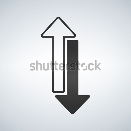 Black and White arrows, vector illustration isolated on the white background. Stock photo © kyryloff