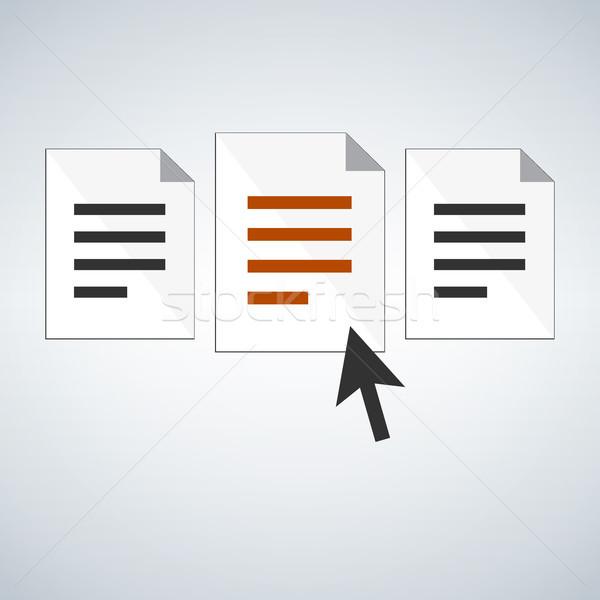 Seçmek belge uygulama insan kaynaklar yönetim Stok fotoğraf © kyryloff