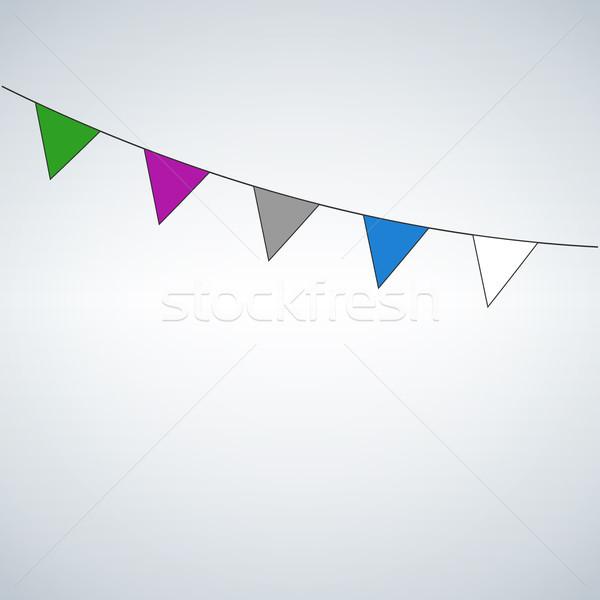 Сток-фото: праздновать · флагами · изолированный · белый · Пасха · счастливым