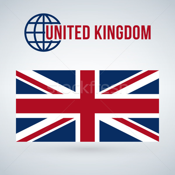 National United Kingdom flag, Vector Illustration isolated on modern background with shadow Stock photo © kyryloff