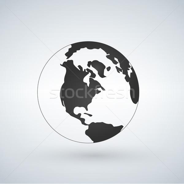 świat świecie ikona odizolowany biały podpisania Zdjęcia stock © kyryloff