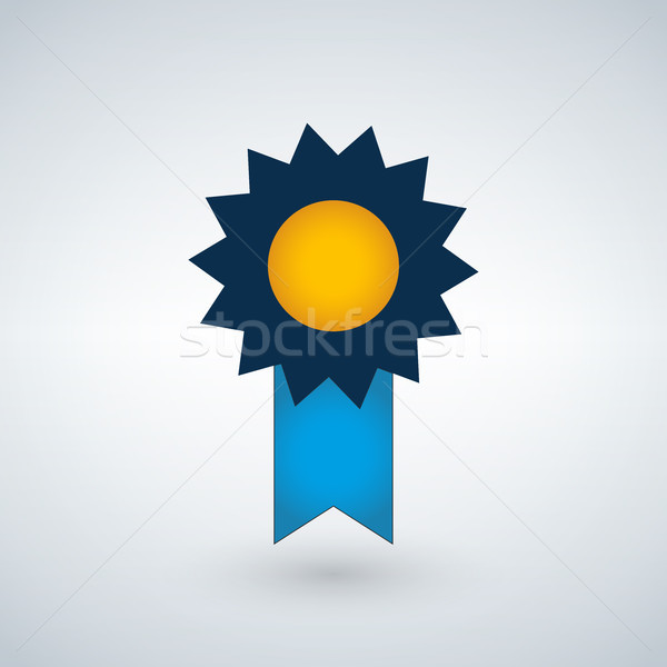 Badge Icon in trendy flat style isolated on modern background. Award symbol for web site design, log Stock photo © kyryloff