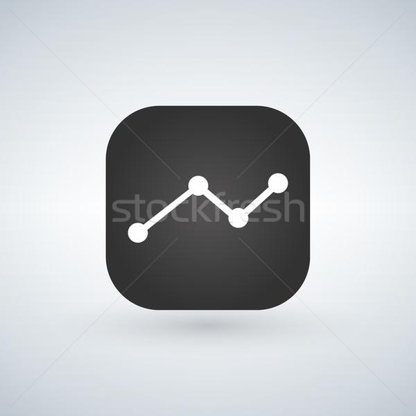 Statistisch toepassing mobiele telefoon lijn vector icon Stockfoto © kyryloff