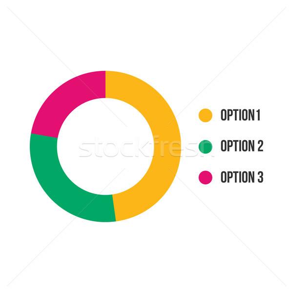 Kleurrijk business cirkeldiagram documenten rapporten web Stockfoto © kyryloff