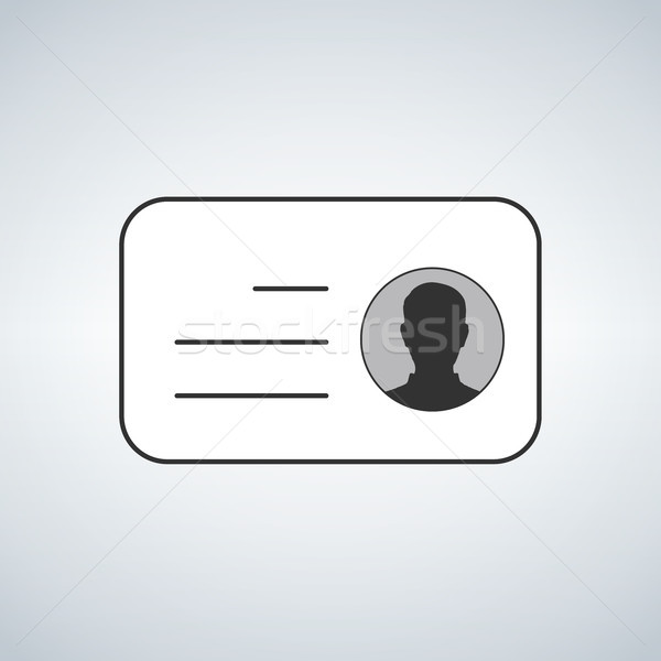 ID Card. Flat design style. vector illustration isolated on modern background. Stock photo © kyryloff