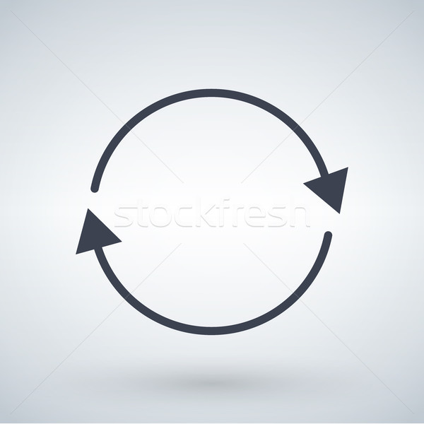 black circle arrows, refresh or update arrow concept. vector illustration isolated on white backgrou Stock photo © kyryloff