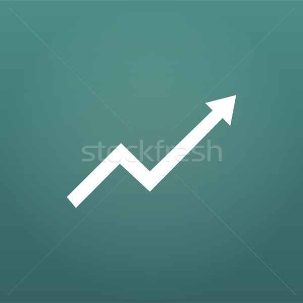 Financial Arrow Graph, aroow rise or up. vector illustration isolated on modern background. Stock photo © kyryloff