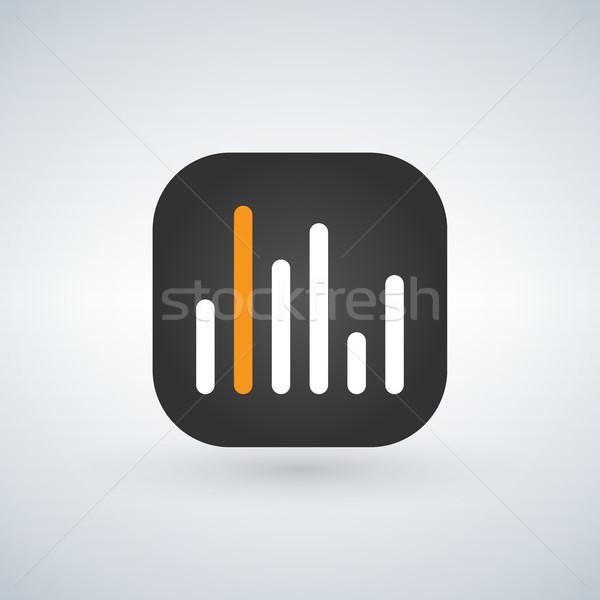 Statistique demande téléphone portable ligne vecteur icône Photo stock © kyryloff