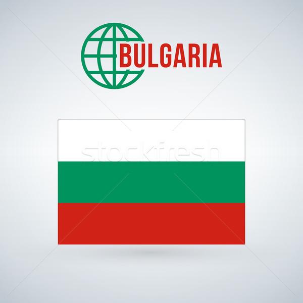 Сток-фото: флаг · Болгария · изолированный · современных · тень · дизайна