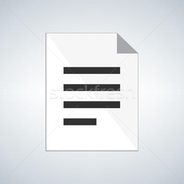 Сток-фото: документа · икона · изолированный · современных · служба · интернет