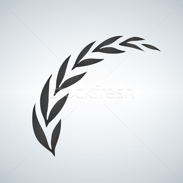 Wreath ear isolated on white background. Template vector icon design. Agriculture wheat logo. Vector Stock photo © kyryloff