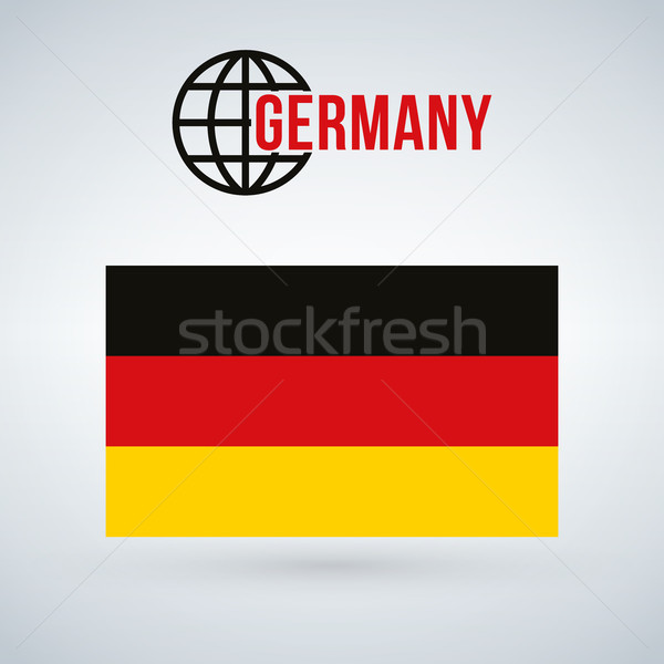 Germany flag, vector illustration isolated on modern background with shadow. Stock photo © kyryloff