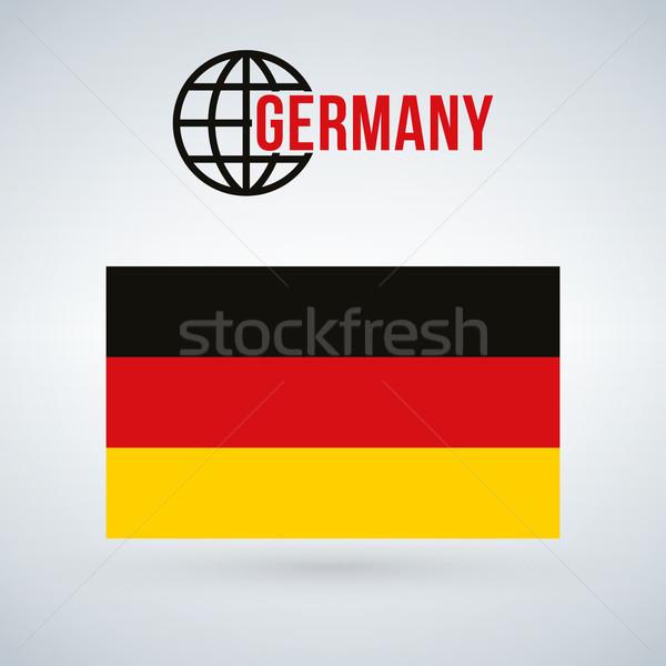 Duitsland vlag geïsoleerd moderne schaduw werk Stockfoto © kyryloff