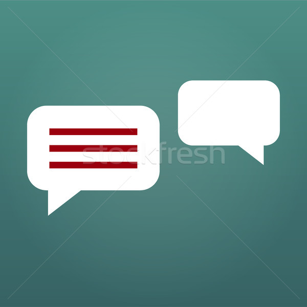 Chat Bubbles Vector Icon illustration isolated on modern background. Stock photo © kyryloff