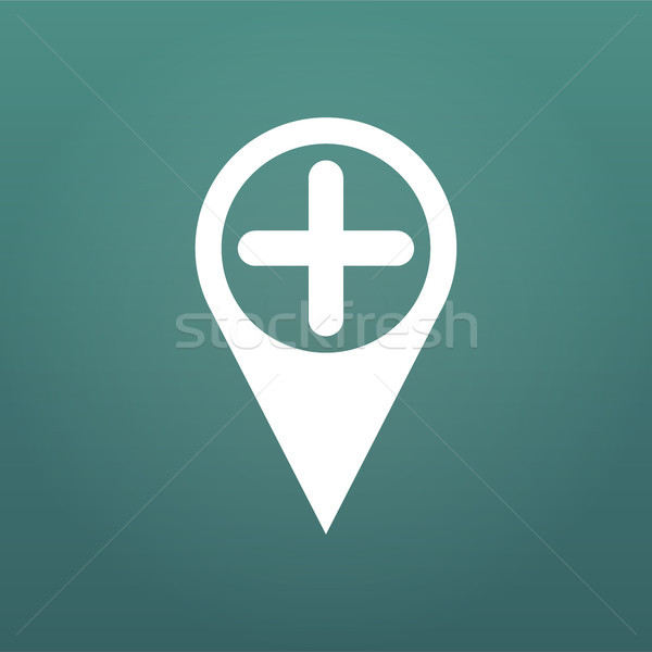 Add Location Map pin flat design style modern icon, pointer minimal vector symbol, marker sign. Vect Stock photo © kyryloff