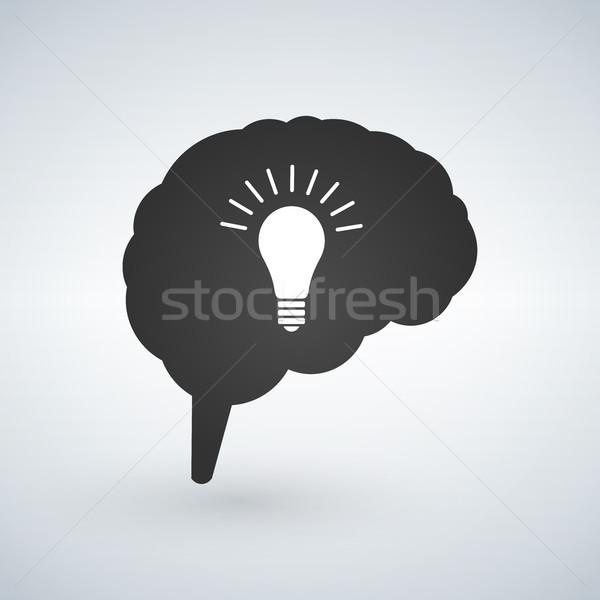 Сток-фото: Идея · мозг · вектора · Creative · изолированный