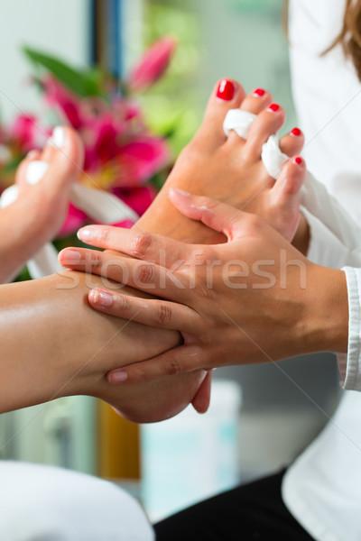 女性 爪 スタジオ ペディキュア 日 スパ ストックフォト © Kzenon