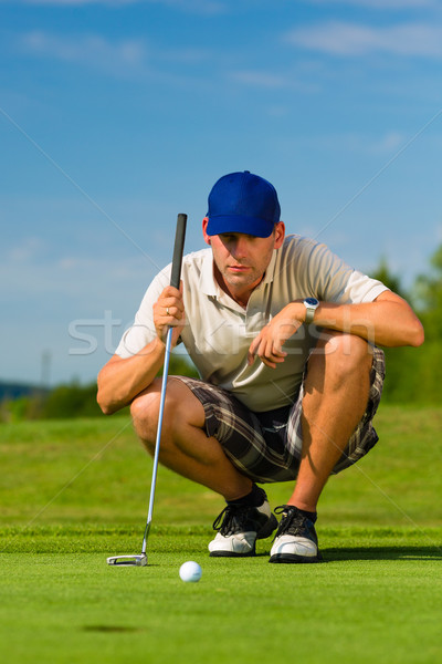 Jovem jogador de golfe homem esportes verão diversão Foto stock © Kzenon