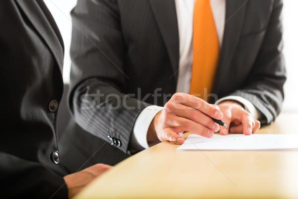 Negócio escritório dois profissionais conversa Foto stock © Kzenon