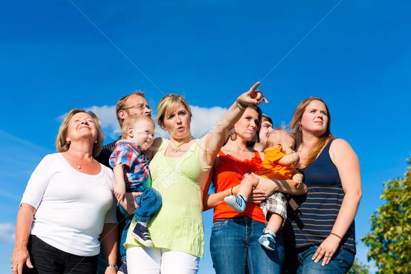 семьи весело луговой лет матери отец Сток-фото © Kzenon