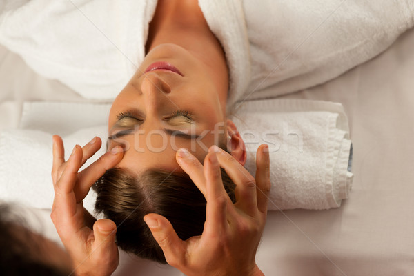 Cosmetic treatment massage in Spa Stock photo © Kzenon
