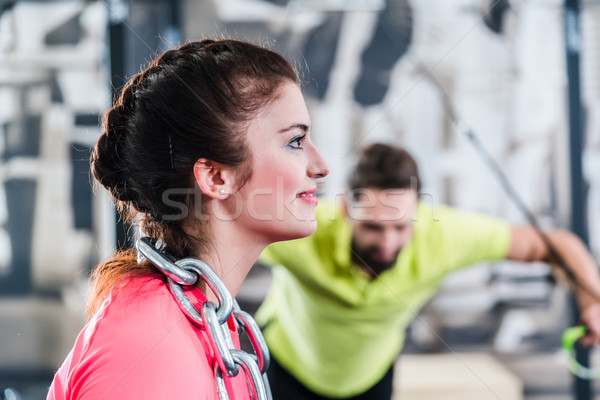 Functional Training with chain and rings Stock photo © Kzenon