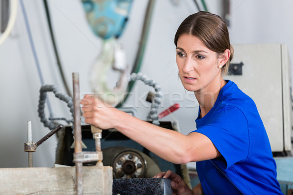 Craftswoman in stonemason workshop  Stock photo © Kzenon