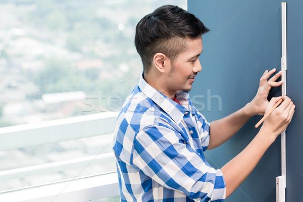 小さな 便利屋 鉛筆 ホーム 男 男性 ストックフォト © Kzenon