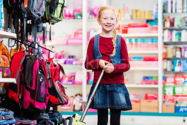 Сток-фото: покупке · первый · день · школы · сумку