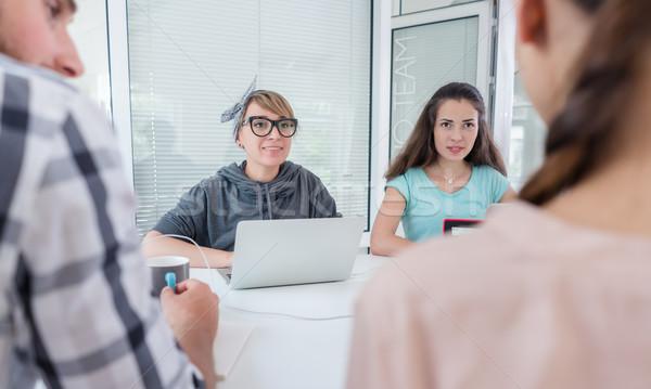 Confiável jovem pensando soluções bem sucedido Foto stock © Kzenon