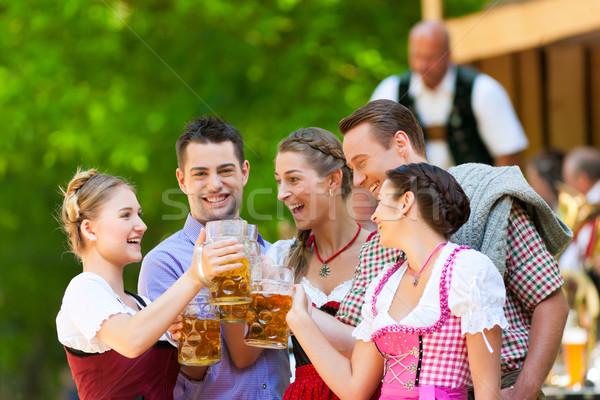 Piwa ogród znajomych zespołu Niemcy Zdjęcia stock © Kzenon
