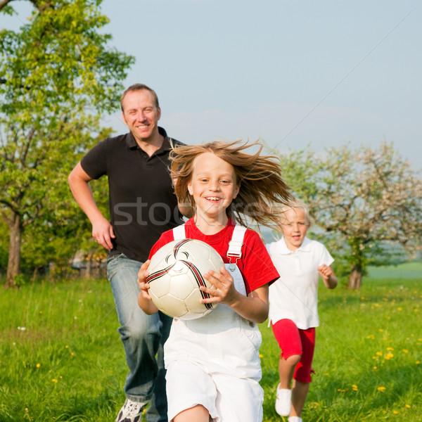 Family playing ballgames Stock photo © Kzenon