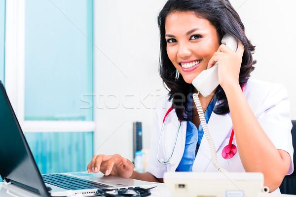 Asian medico ufficio amministrazione lavoro femminile Foto d'archivio © Kzenon