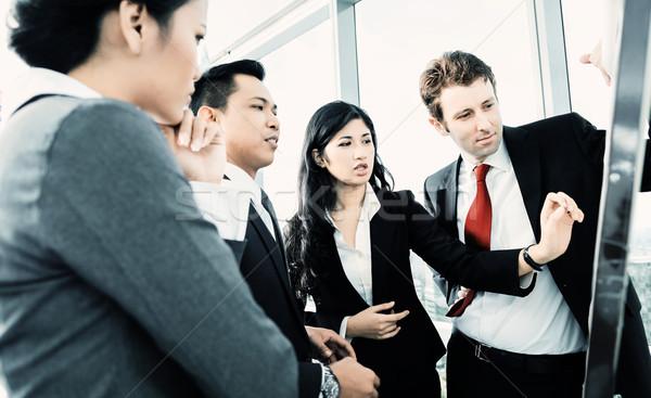Internationale bedrijfsleven team business kantoor werk zakenman Stockfoto © Kzenon