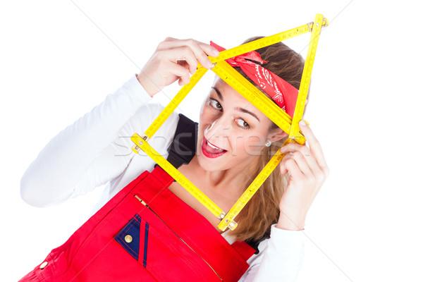 Woman having fun with home improvement  Stock photo © Kzenon