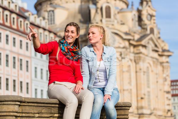 友達 ドレスデン 周りに 女性 建物 市 ストックフォト © Kzenon