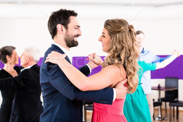 Сток-фото: молодые · старший · пары · Dance · человека