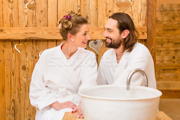 Stok fotoğraf: çift · sağlıklı · yaşam · spa · romantik · yolculuk