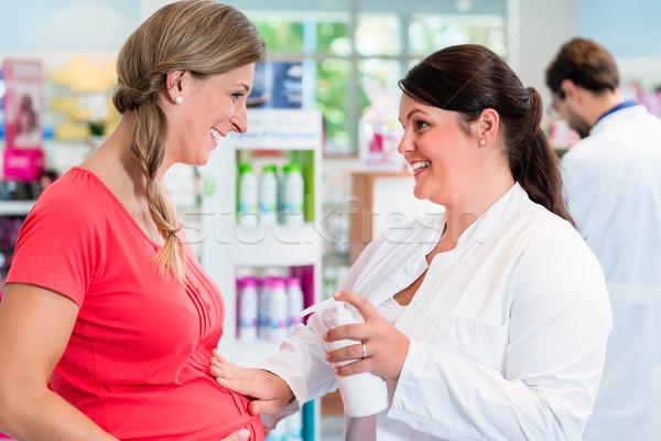 клиентов торговых аптека наркотиков магазине продажи Сток-фото © Kzenon