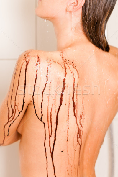 Wellness - young woman detoxifying in a Spa Stock photo © Kzenon