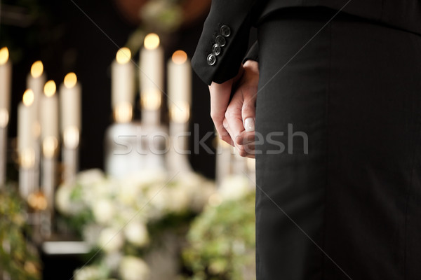 woman at funeral mourning Stock photo © Kzenon