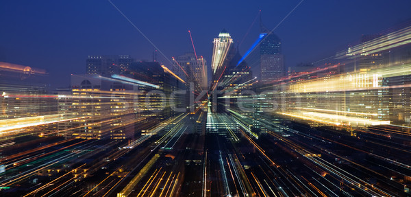 Nightly skyline – zoomed Stock photo © Kzenon