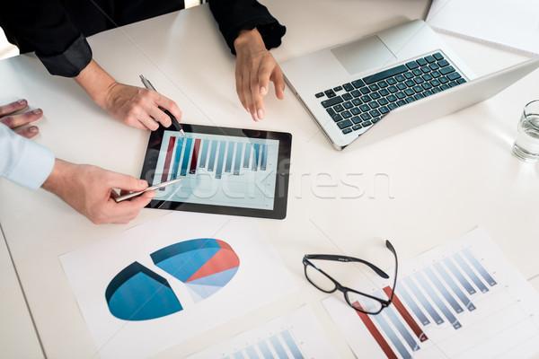Profesional equipo gráfico de barras tres negocios Foto stock © Kzenon