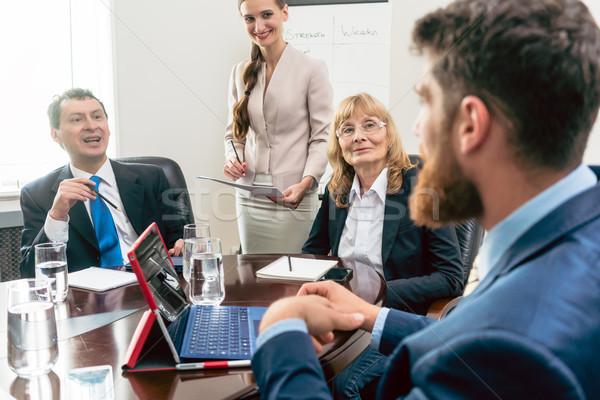 幸せ マネージャー リスニング 同僚 計画 ストックフォト © Kzenon